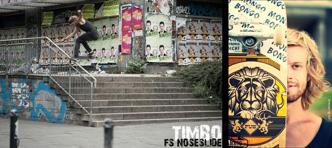 Timb Bornemeier mit einem sehr stylischen fs noseslide in Berlin